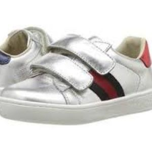 4ec998abc7c Gucci kids new ace sneakers 1.5 sliver blue red